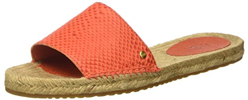 Ugg Women's Cherry Exotic Hazard Orange Leather Sandal 8 ...