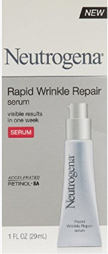 Neutrogena Rapid Wrinkle Repair Hyaluronic Acid Face Serum & Retinol Serum with Glycerin - Anti Wrinkle Serum for Face with Hyaluronic Acid & Retinol for Wrinkles & Dark Circles, 1 fl. oz (Pack of 2)