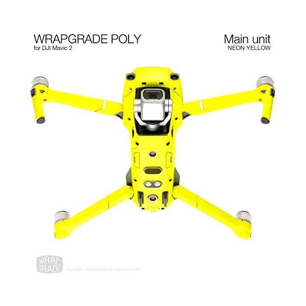 WRAPGRADE Skin Compatibile con DJI Mavic 2 unità Principale (Neon Yellow) 4 spesavip