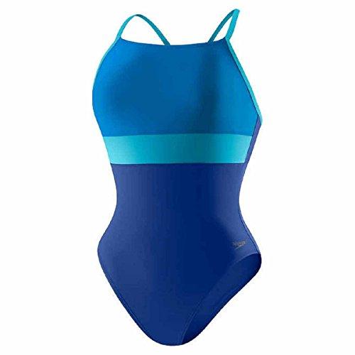 Speedo Women's Ultraback Racerback Athletic Training One Piece Swimsuit, 12 - Atlantic - One In Speedo Swimsuit All