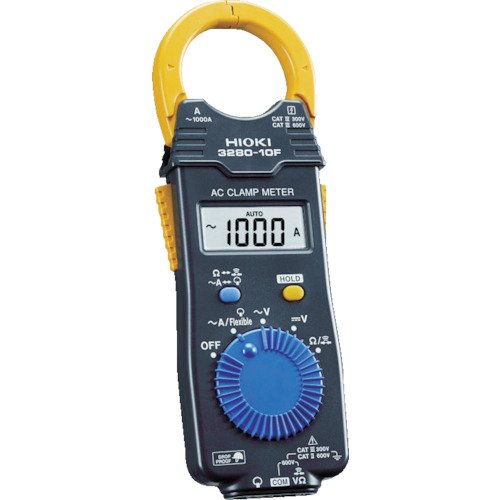 Hioki 3280-10F - AC Current Clamp Meter with Broad Operating Temperature Range, Attachable Flexible Sensor, and Drop-Proof Durability