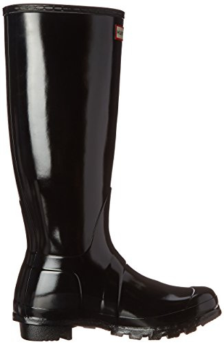 Women's Gloss Snow Boots Rain Water Unisex Black Original Tall Hunter Boots Boots rnppwFqR
