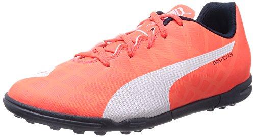Puma evoSPEED 5.4 TT Jr - zapatillas de fútbol de material sintético Niños^Niñas naranja - Orange (lava blast-white-total eclipse 01)