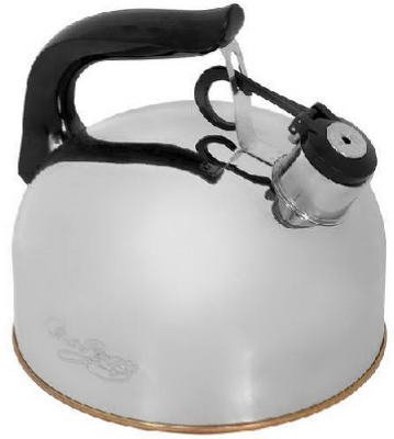 World Kitchen 3527017 Revere 2-1/3 Qt. Traditional Whistling Tea Kettle