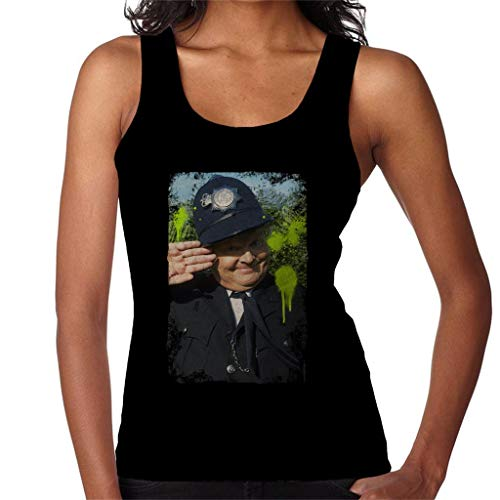 TV Times Comedian Benny Hill As Policeman 1989 Women's Vest Black (Best British Comedians Of All Time)