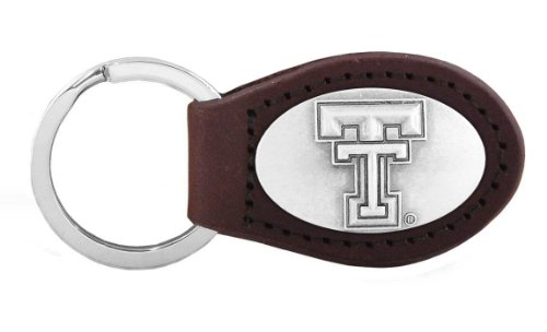 (NCAA Texas Tech Red Raiders Zep-Pro Leather Concho Key Fob (Brown))