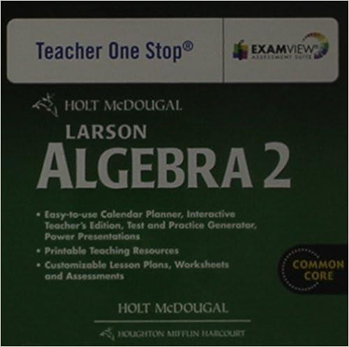 Amazon.com: Holt McDougal Larson Algebra 2: Common Core Teacher's ...