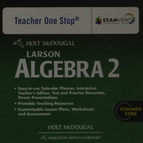 Holt McDougal Larson Algebra 2: Common Core Teacher's One Stop Planner DVD Algebra 2
