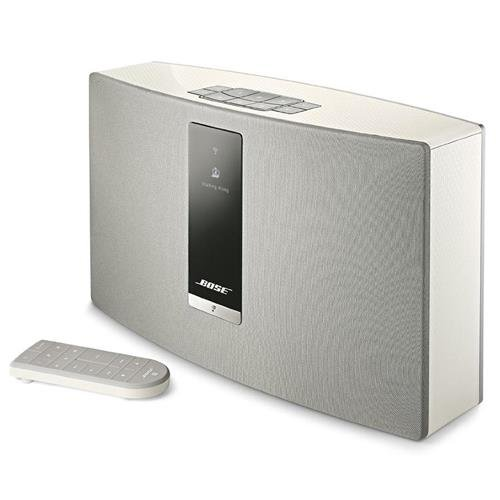 Bose SoundTouch 20 Series III Wireless Music System with Remote Control, White - With Bose UB-20 Series II Wall/Ceiling Bracket, White