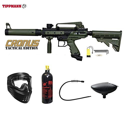 MAddog Tippmann Cronus Tactical Paintball Bronze Paintball Gun Package - Black/Olive