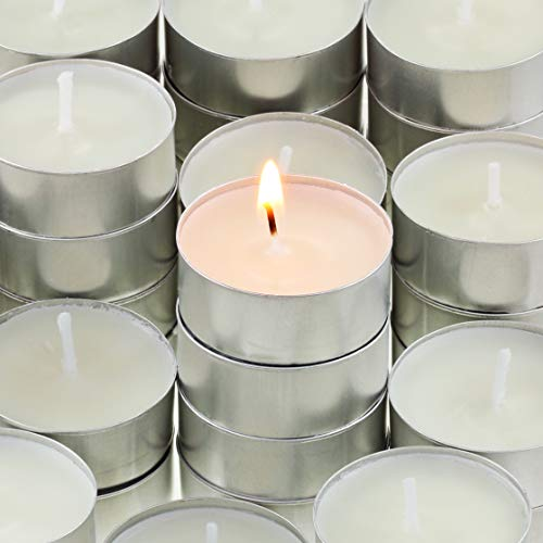 200 Unscented Paraffin-Free Natural Tealights White By (Soy Candle Tea Lights)