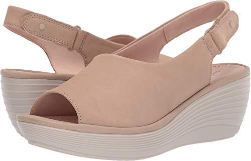 CLARKS Women's Reedly Shaina Wedge Sandal Sand Nubuck 070 W US