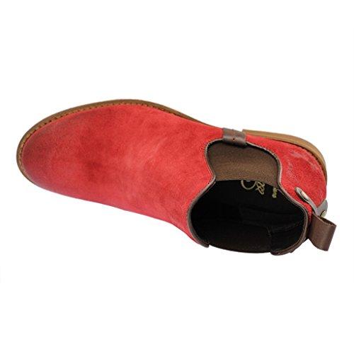 Gamba Rosso Chelsea Corta rosso Donna Imbottitura A Mod Boot Leggera Stivaletti Mustang Chelsea TwqgP