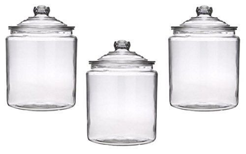 Anchor Hocking 2-Gallon Heritage Hill Jar with Glass Lid (3, 2 Gallons)