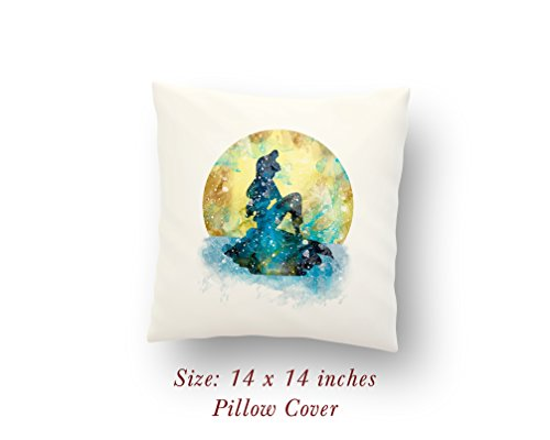 Ariel The Little Mermaid 14 x 14 inches Pillow Cover