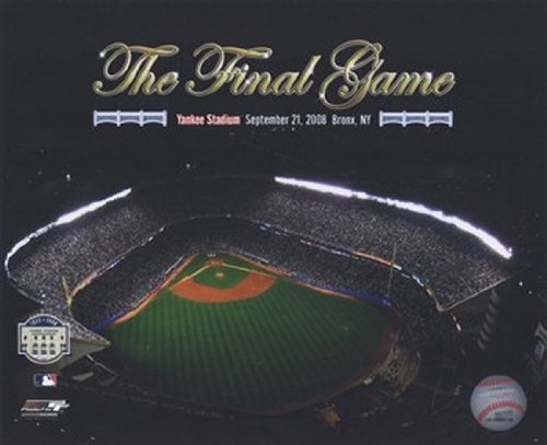 Yankee Stadium Aerial The Final Game 2008 With Overlay Photo Print (16 x 20)