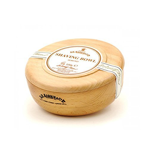 Beechwood Shaving Soap Bowl - D.R. Harris Almond Shaving Soap in Beech Wood Bowl