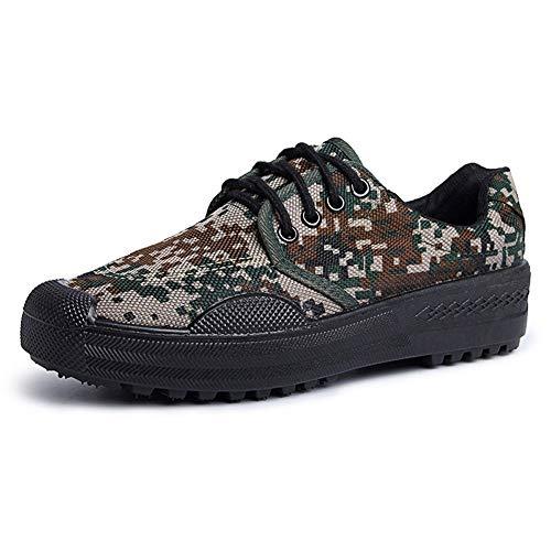 Rcnrycamouflage scarpe casual, antiscivolo, resistente all' usura, comfort, Low Light comfort, Labor della tela, traspirante scarpe in gomma, a,42