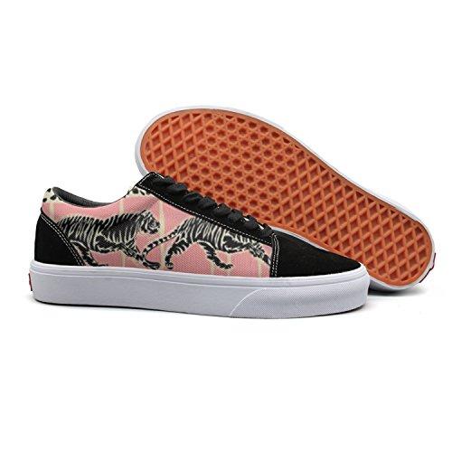 Vcerthdf Print Trendy Rainforest Animal Cheetah Zebra Low Top Canvas Sneakers