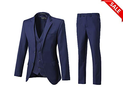 High-End Suits 3 Pieces Men Suit Set Slim Fit Groomsmen/Prom Suit for Men Two Buttons Business Casual Suit -