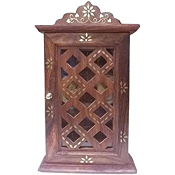 Xmas Present, Wooden Key Cabinet ,with Glass Panel Door Chex  Design,decorative Key