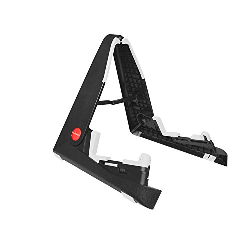 Tetra-Teknica TourPro EGS-06 ABS Plastic A-frame Foldable Universal Instrument Stand for Acoustic, Classical, Electric and Bass Guitars, Color Black