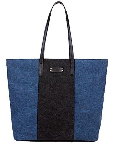 Sacs Bleu Femme tout FBUFBC181498 à AllhqFashion Sacs voyages Clouté bandoulière Courts fourre Bleu 5pT7q