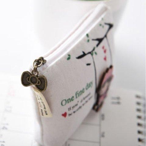 Eudola Mini Pochette Femme,Blanc Filles Swing Cartoon Mini Pochette de Cl/és Cosm/étiques Carte de Cr/édit Femme Accessoires pour Les Fmmes Dame Filles