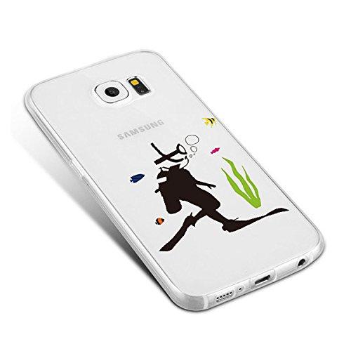 Vanki® Funda Galaxy S7 Edge�?Carcasa Cubierta TPU Silicona Goma Suave Case Protection y Premium Clarity Cover Ultra Fino Anti-Arañazos para Samsung Galaxy S7 Edge-Las plantas verdes 14