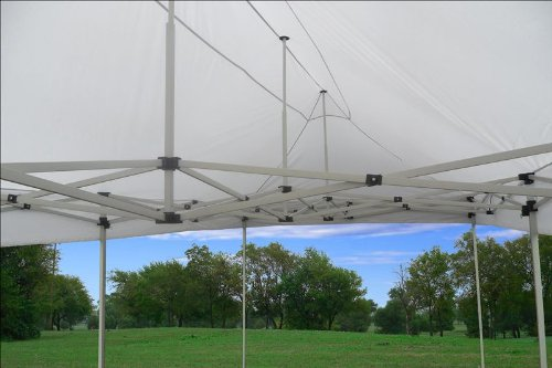 10'x20' Pop up 6 Wall Canopy Party Tent Gazebo Ez White - F Model Upgraded Frame By DELTA Canopies by DELTA Canopies (Image #5)
