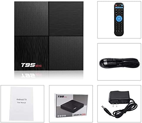 T95 Mini Android 9.0 TV Box, TUREWELL Android TV Box 2GB RAM 16GB ROM TV Box H6 Quadcore cortex-A53 Smart TV Box 2.4GHz WiFi three-D 6K Android Box Streaming Media Player