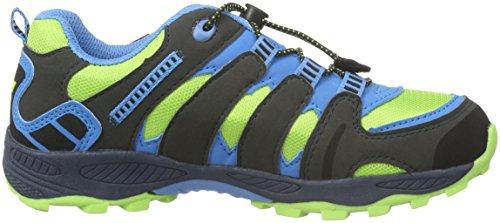 Lico Fremont, Zapatos de Low Rise Senderismo Unisex Niños Verde (LEMON/MARINE/BLAU)