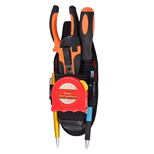 Small Electrician Tool Pouch,Mini Work Organizer Utility Pouch,Waterproof and Durable,Black (1 - Tool Utility Pouch