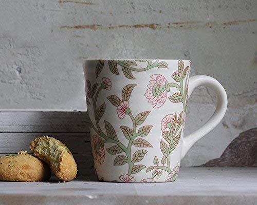 - storeindya Ceramic Beer Mug Tea Coffee Milk Mug Studio Pottery Cup Handcrafted Home Kitchen Serveware (Design 2)