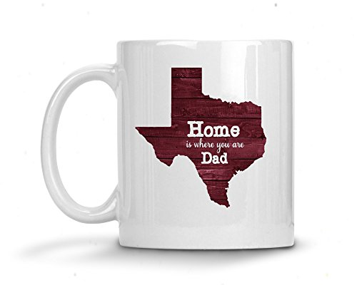- Dad Home is Where You Are Long Distance State Coffee Mug