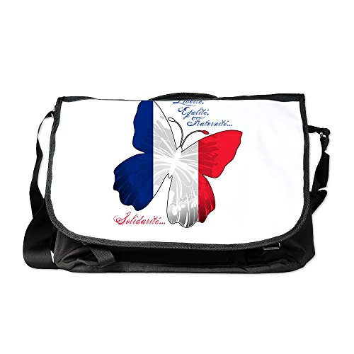 (Truly Teague Laptop Notebook Messenger Bag French Flag Butterfly Solidarite)