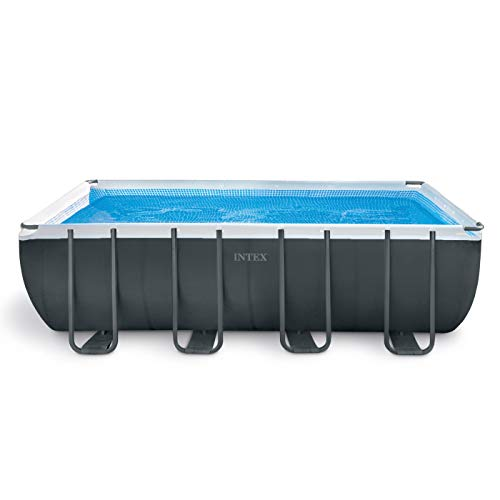 Intex 18ft X 9ft X 52in Ultra XTR Rectangular Pool Set with Sand Filter Pump, Ladder, Ground Cloth & Pool Cover ()