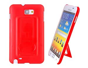 Protective TPU Case with Stand for Samsung Galaxy note I9220 (Red) + Worldwide free shiping