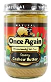 Once Again - Natural Cashew Butter - 16 oz.