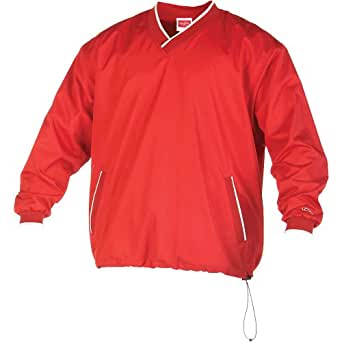 Rawlings Men's Rvnw2 V-Neck Pullover Jacket(Scarlet, Small)