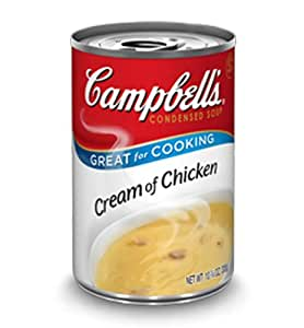 Campbell's, Condensed Cream of Chicken Soup, 10.5oz Can (Pack of 6)