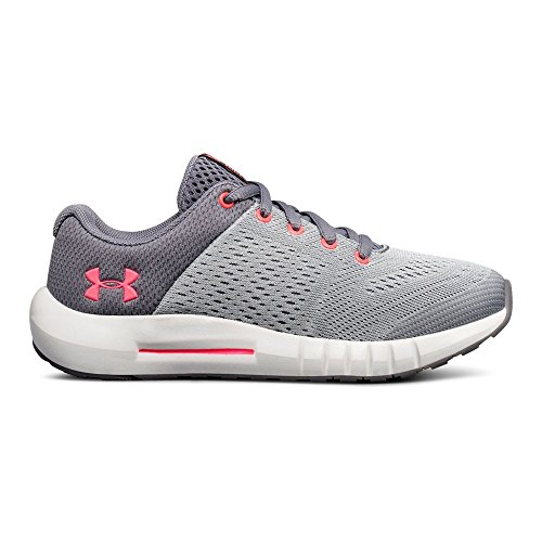 Under Armour Girls' Pre School Pursuit Sneaker, Zinc Gray (101)/Overcast Gray, 13.5K