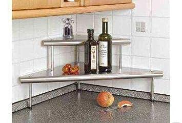 küchen eck regal -edelstahl: amazon.de: küche & haushalt - Drahtregal Küche