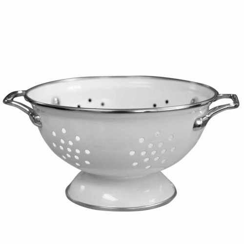 Calypso Basics by Reston Lloyd Powder Coated Enameled Colander, 1 Quart, White