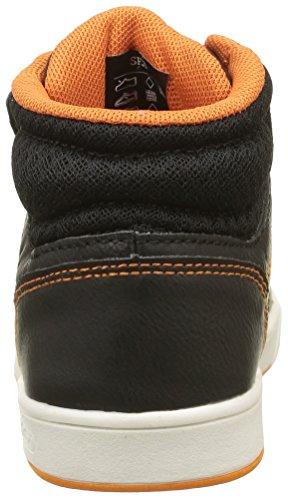 MLB Jungen Ferguson Mid Sneaker Noir (Black/Jaffa Orange 170)