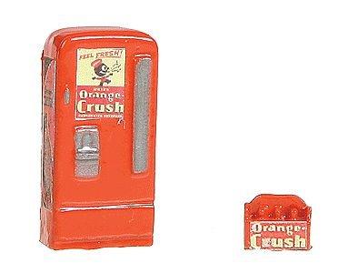 - HO Scale Upright Soda Machine w/Case -- Orange Crush