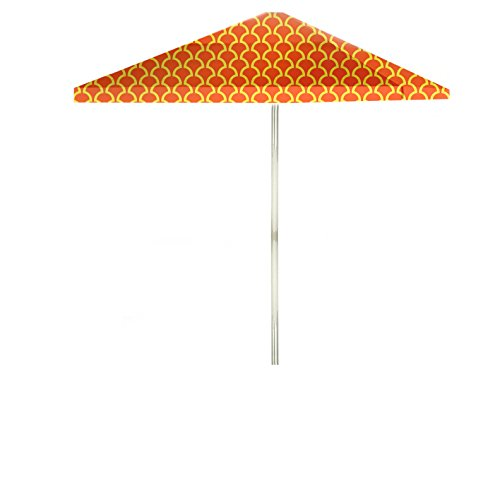 - Best of Times 1020W2104-YO Fun with FINS 8 ft Tall Square Market Umbrella, One Size, Yellow-Orange