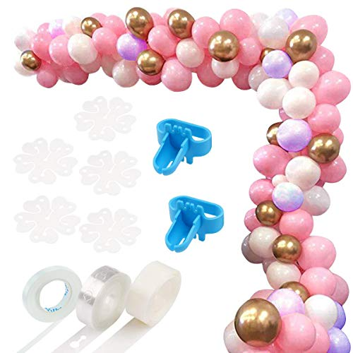 122 PCS Balloon Arch Garland Kit-Pink,Purple,White&Gold Balloons Garland Decorating Strip Kit for Wedding,Birthday,Baby Shower,Graduation Party Decorations]()
