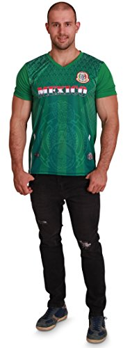 Men's Mexico World Cup 2018 Green Soccer Jersey, Men Size L (Mexico World Cup)