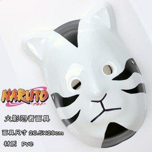Naruto Shippuden cosplay máscara Anbu Itachi Gato Negro Estilo